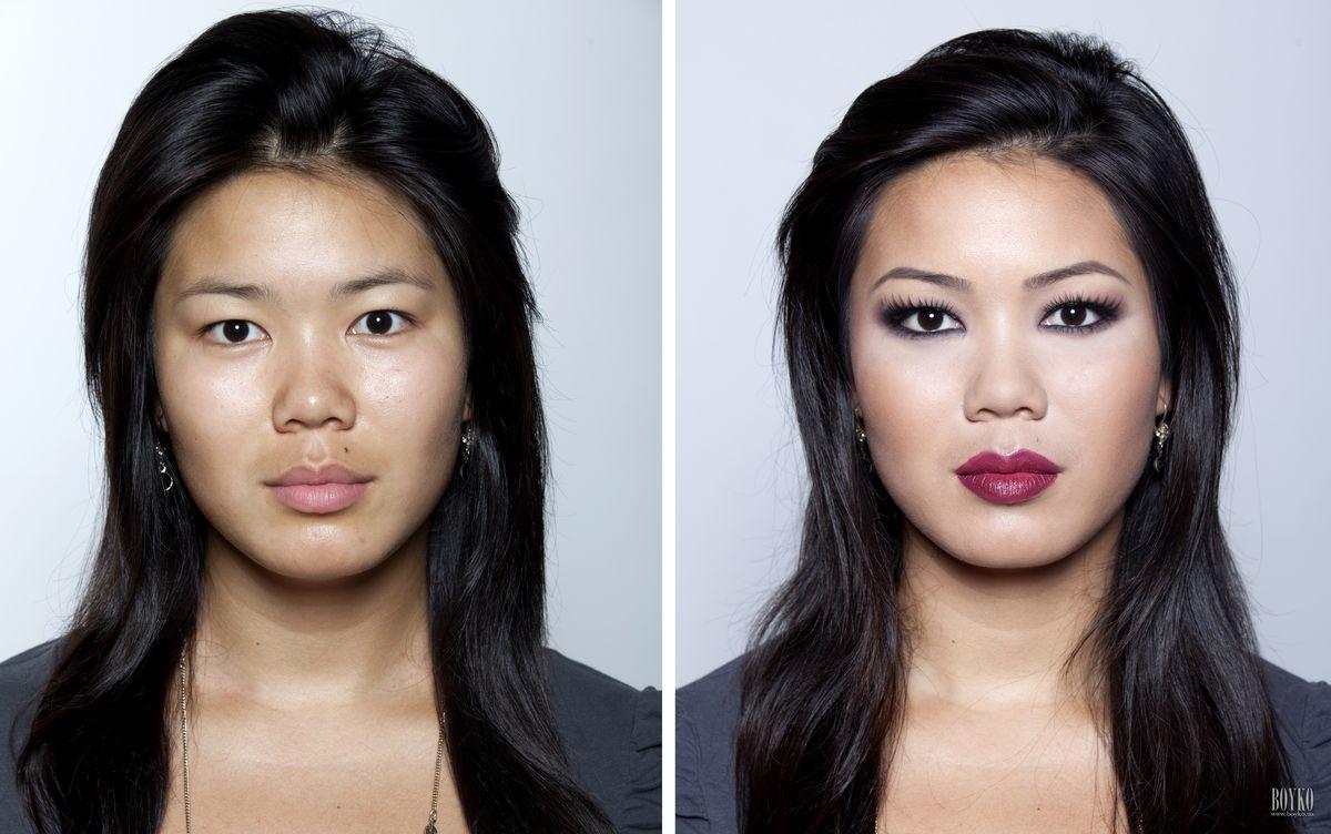 Как с помощью макияжа уменьшить нос картошкой фото до и
