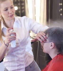 Искусственное поседение волос